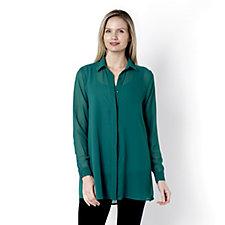 Outlet Antthony Designs Longline Chiffon Shirt & Vest Set