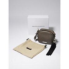 Amanda Wakeley The Bowie Leather Monogram Boxy Shoulder Bag