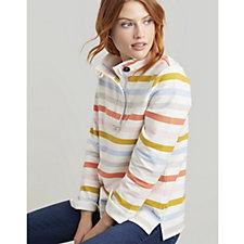 Joules Saunton Stripe Funnel Neck Sweatshirt
