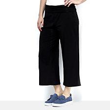 ModernSoul Loungewear Foldover Waistband Cozy Knit Gaucho Trousers
