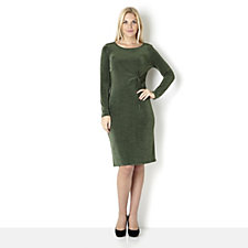 Outlet Kim & Co Long Sleeve Twist Front Dress