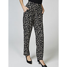 Kim & Co Geo Brazil Knit Pleated Trousers with Pockets