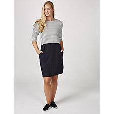 Betty & Co Stripe Knit Dress with Slot Pockets