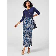 Coco Bianco Maxi Skirt with Side Splits