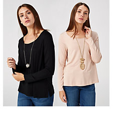 WynneLayers Essential Long Sleeve 2 Pack Tops