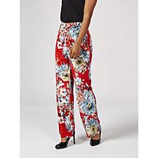 Kim & Co Printed Crushed Velvet Relaxed Leg Trousers