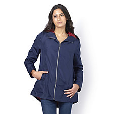 Centigrade Hooded Packable Jacket with Zip Front