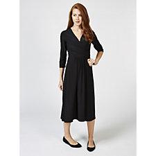 Ronni Nicole 3/4 Sleeve Mock Wrap Dress with Back Zip