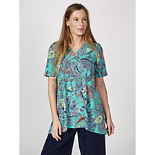 Kim & Co Joyful Paisley Brazil Knit Tunic