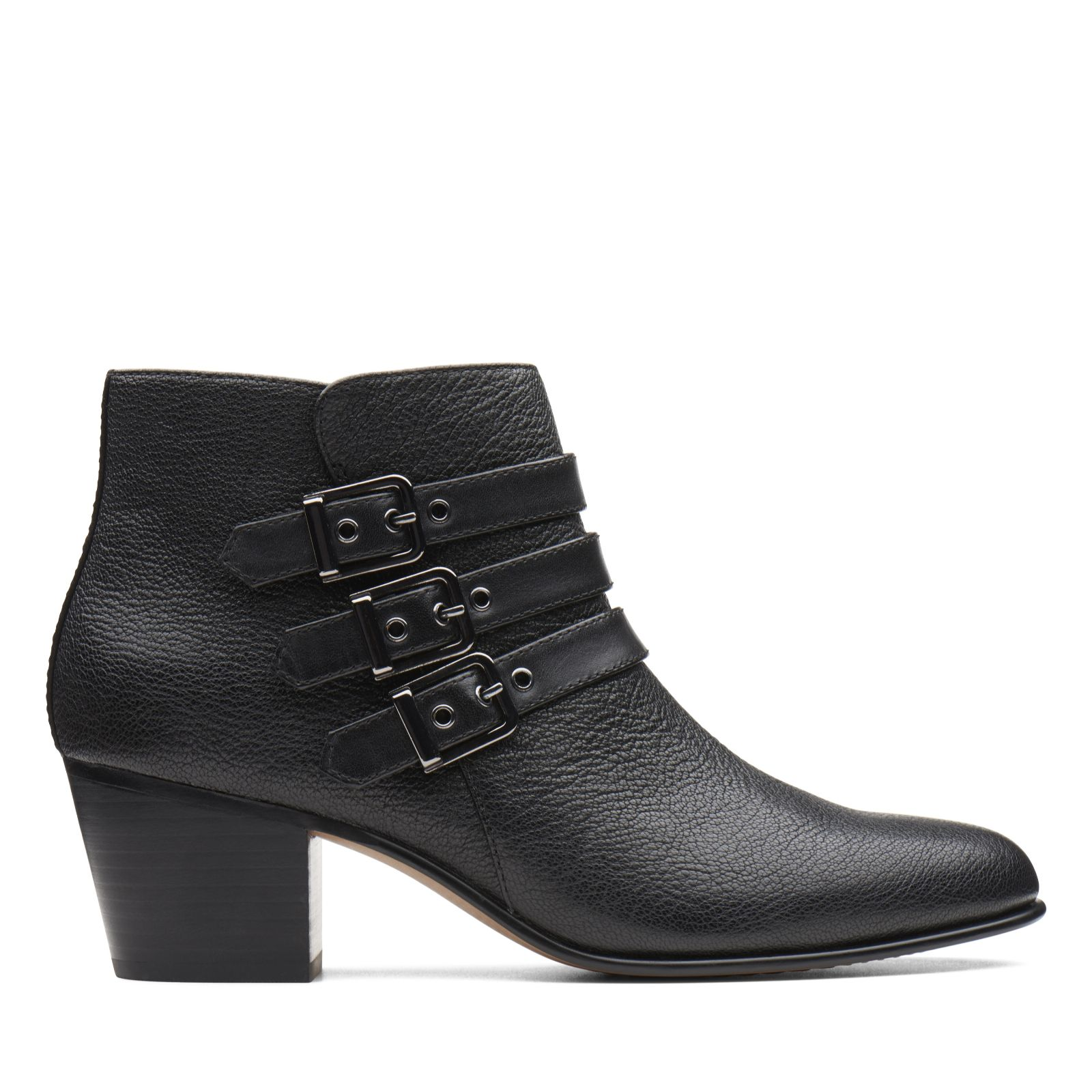 559ea892b44a Clarks Maypearl Rayna Buckle Ankle Boot Standard Fit - QVC UK