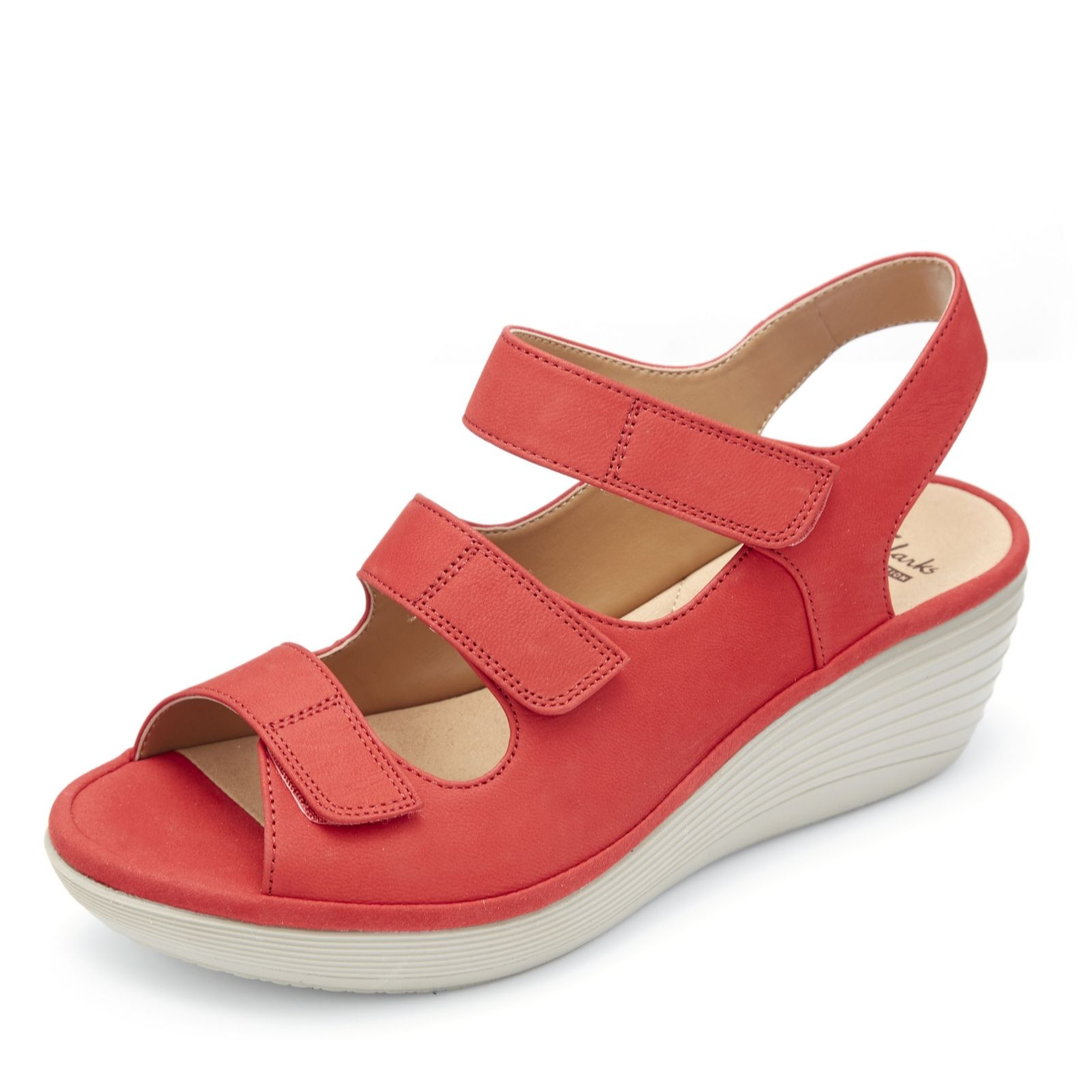 1c1483f9237 Clarks Reedly Juno Wedge Shoe with Soft Cushion Wide Fit - QVC UK
