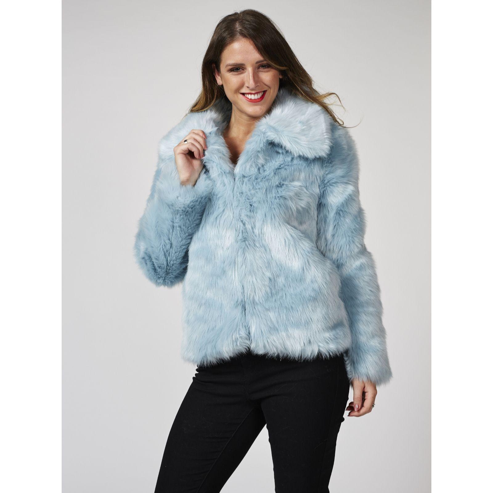 c201f1b2f05 Bonnie Day Faux Fur Coat - QVC UK