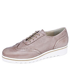 Manas Maratea Perforated Leather Lace Up Brogue