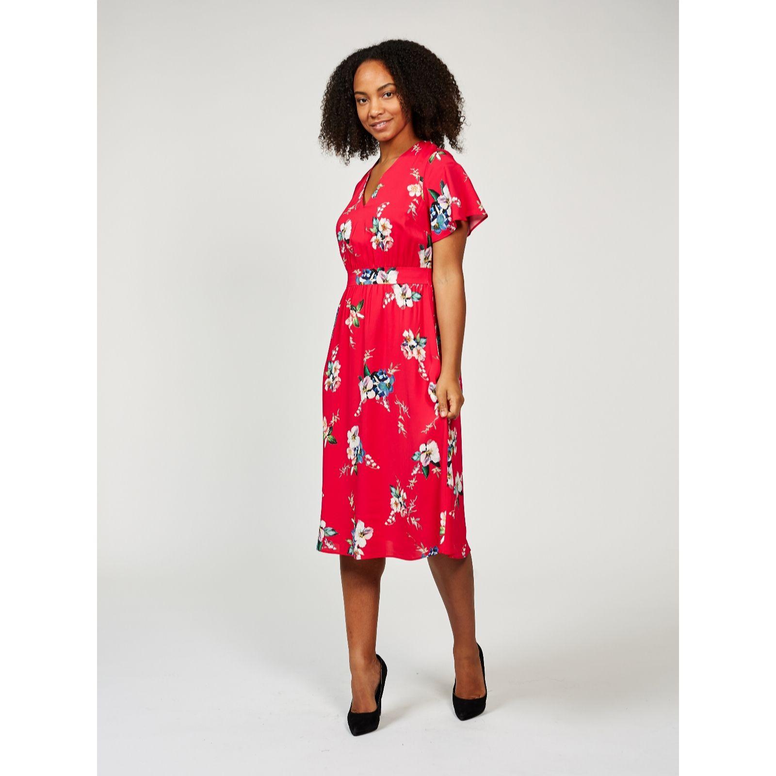 511a6cde5c3 Phase Eight Alexandra Floral Print Dress - QVC UK