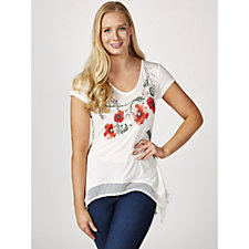 Joe Browns Floral Asymmetric Top