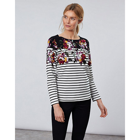 Joules Long Sleeve Jersey Printed Harbour Top