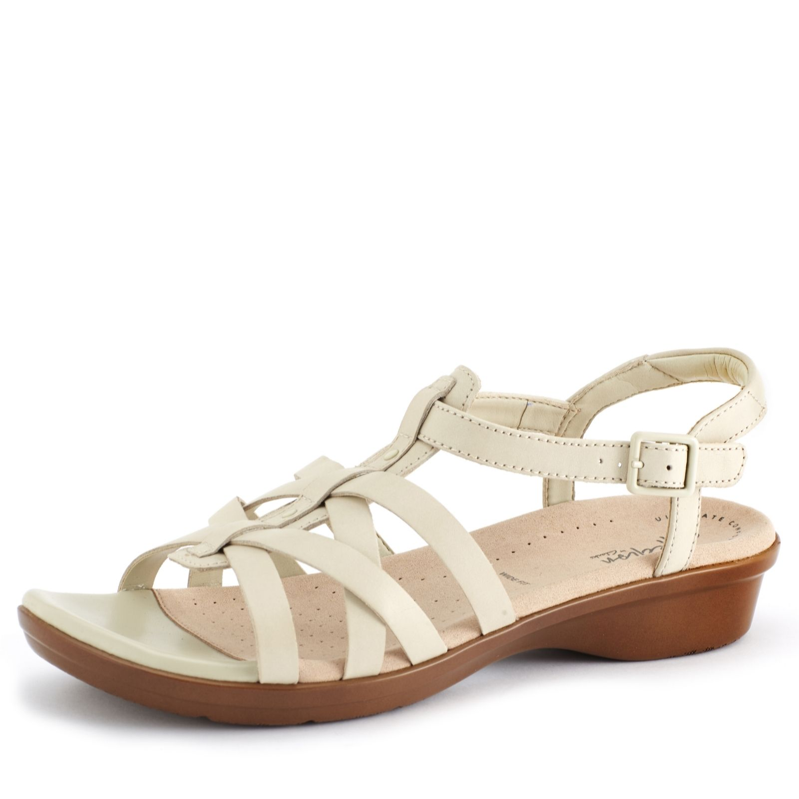 6369c7ab Clarks Loomis Katey Sandal Wide Fit - QVC UK