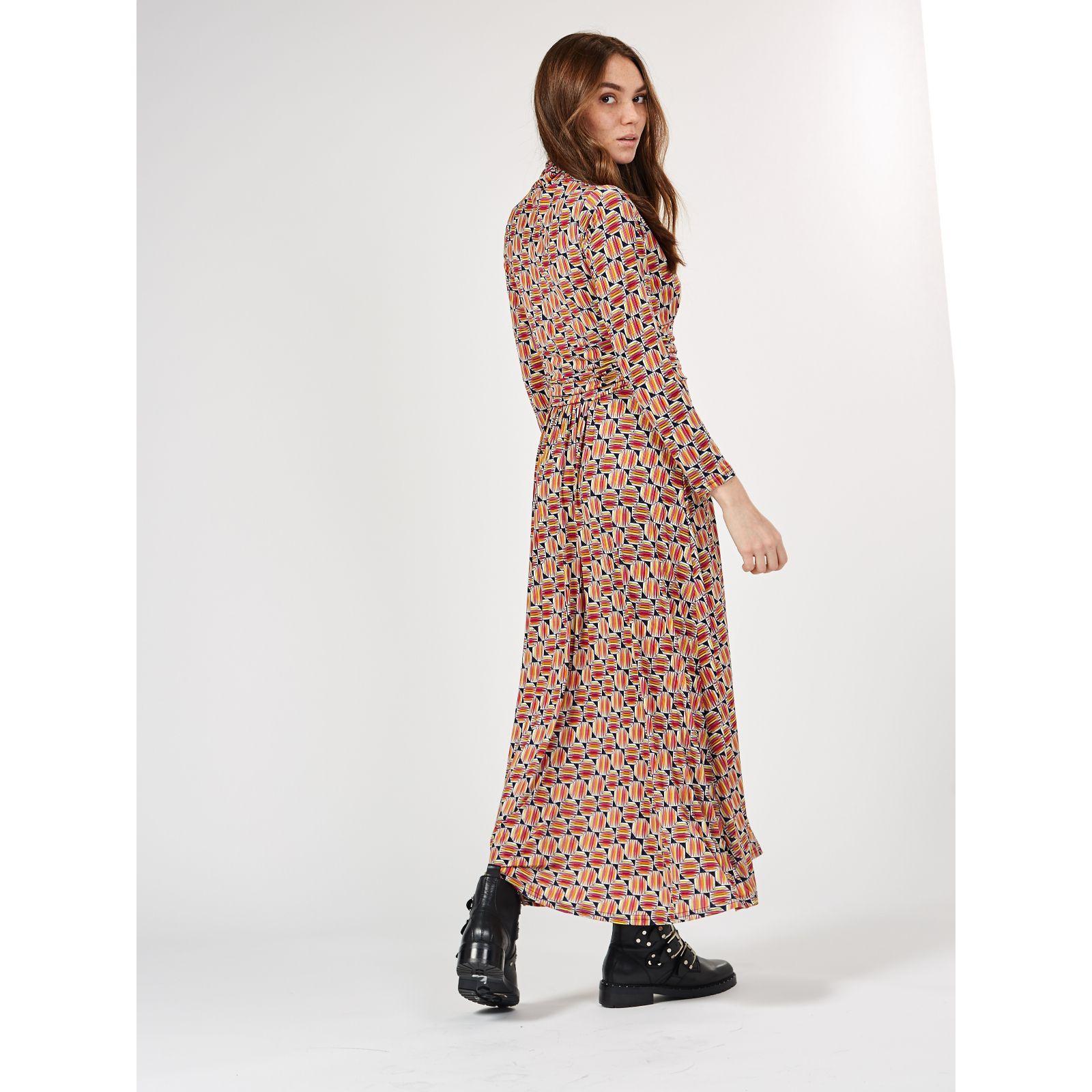 28ecf108a92 Lauren High Neck Printed Maxi Dress by Onjenu London - QVC UK
