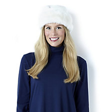 Dennis Basso Hat with Faux Fur Trim