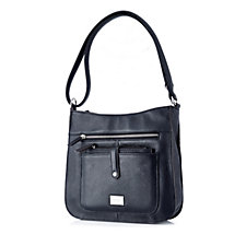 Tignanello Pebble Leather Crossbody Bag with Removable Pouch & RFID Protection