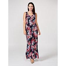 Coco Bianco Pleated Knit Sleeveless Maxi Dress