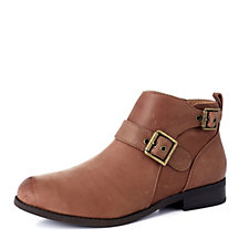 Vionic Orthotic Country Logan Buckle Ankle Boot with FMT Technology
