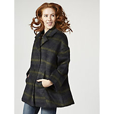 Centigrade Plaid Jacket with Large Collar