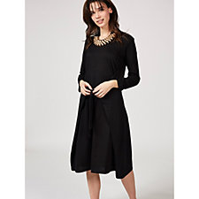 Yong Kim French Terry Tie Front Detail Dress