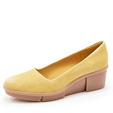 49d755c3b4cf Clarks Pola Mae Wedge Heel Shoe Standard Fit