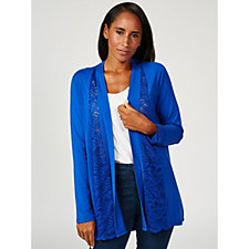 Together Jersey Cardigan with Lace Insert Panels