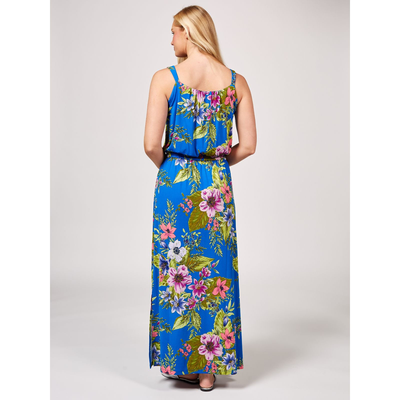 3cca9ba65 Printed Liquid Knit Maxi Dress by Susan Graver - QVC UK