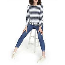 Joules Caroline Stripe Sweatshirt with Zip Back
