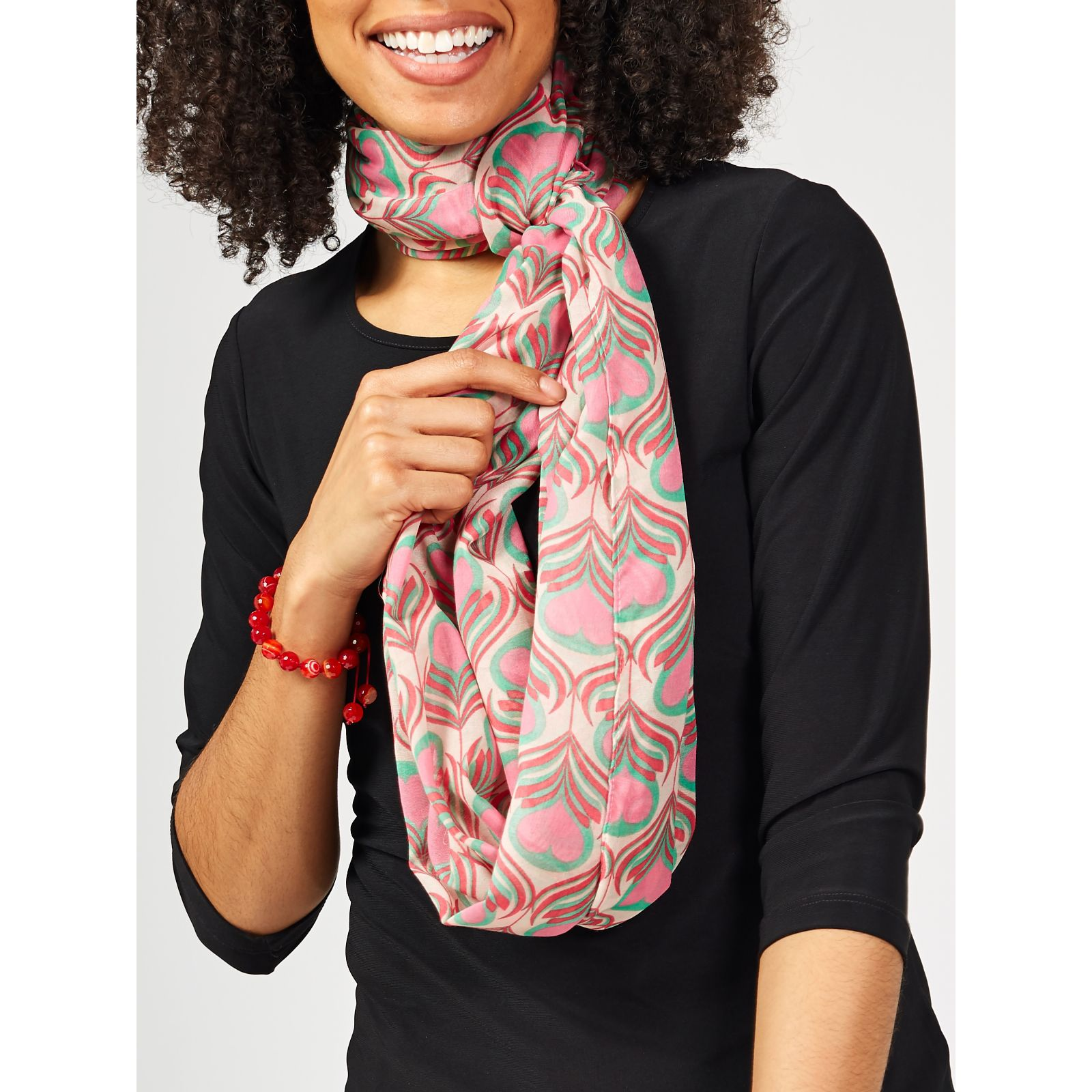 69c3049ef Lola Rose Infinity Scarf with Pouch - QVC UK