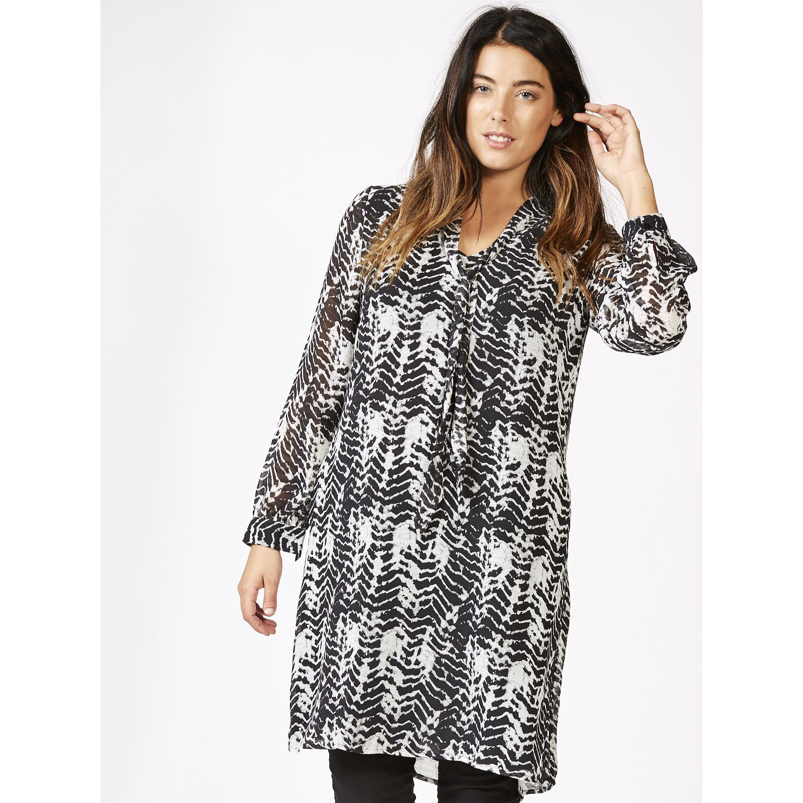 608e4ef7badd Together Printed Dress - QVC UK