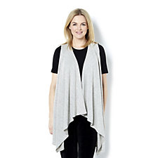 Kim & Co Soft Touch Sleeveless Duster with Cascade Front