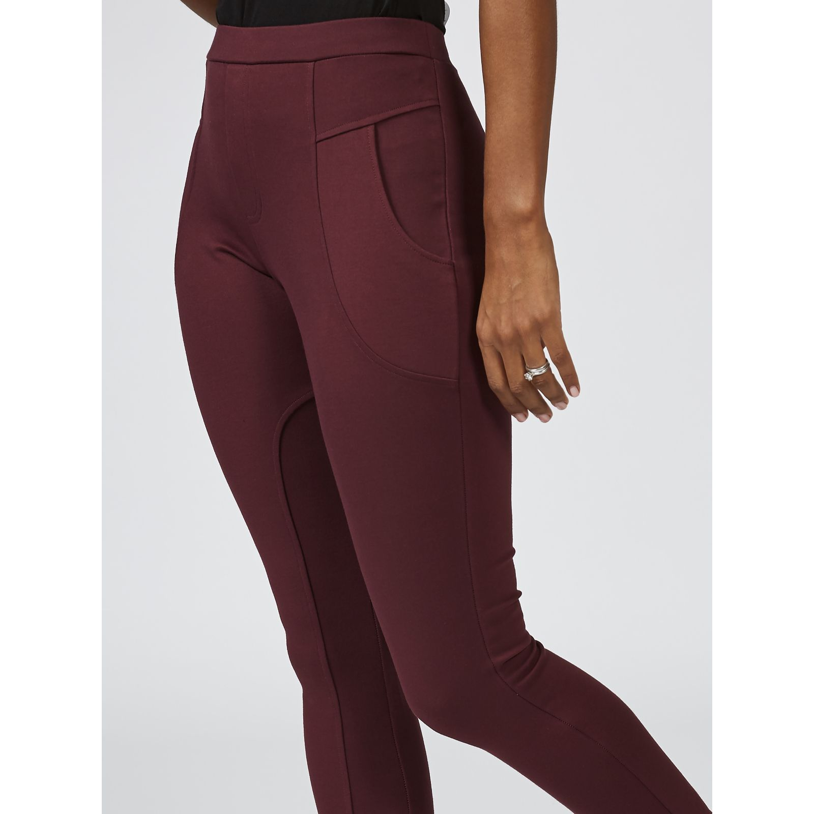 015c653cad05d Du Jour Pull On Ponte Knit Leggings with Pockets - QVC UK