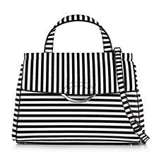 Lulu Guinness Gertie Medium Leather Bag with Crossbody Strap