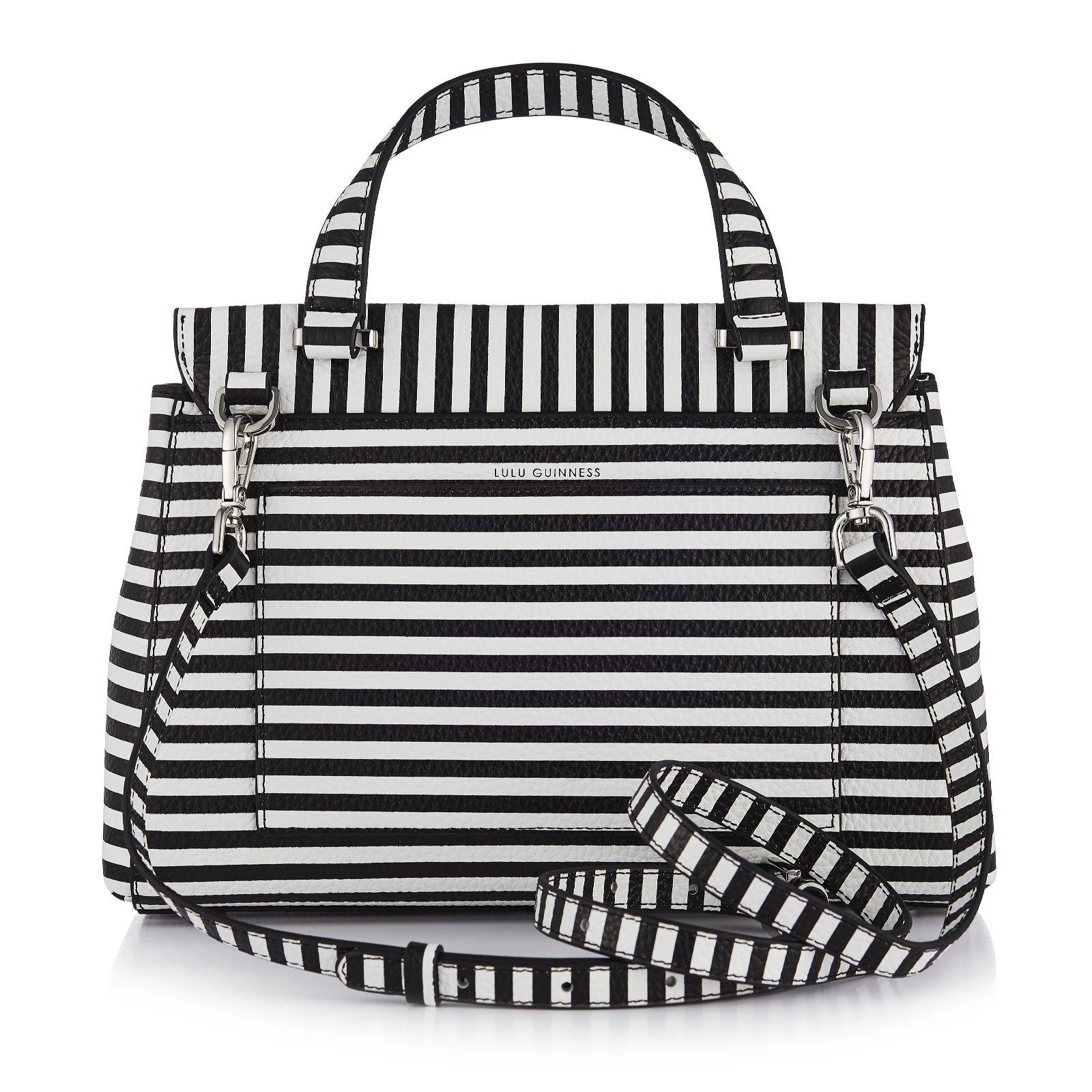 Lulu Guinness Gertie Medium Leather Bag with Crossbody Strap - QVC UK cfa859973f35f