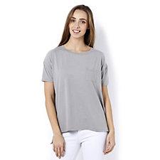 Cuddl Duds Short Sleeve Pocket Detail T-Shirt