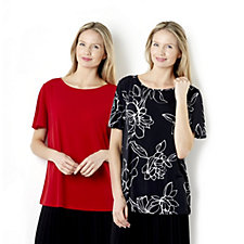 Outlet Set of Two Angel Sleeve Tops by Susan Graver