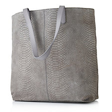 Amanda Lamb Leather Snake Skin Zip Top Shopper Bag