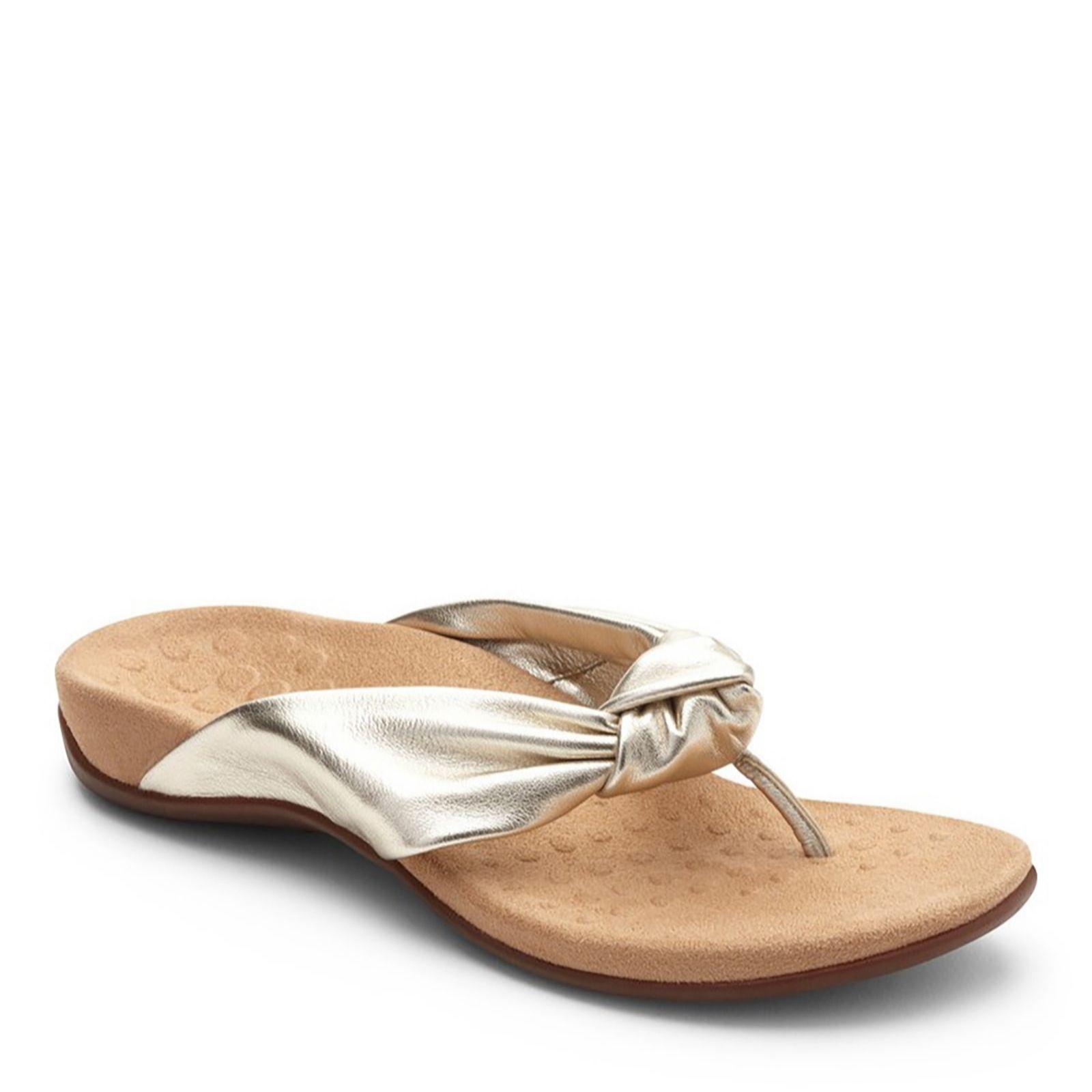 39cf598758f6 Vionic Orthotic Rest Pippa Soft Knotted Toe Post Sandal w  FMT ...