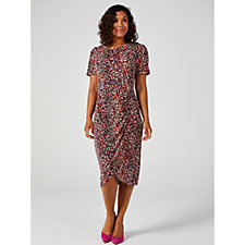 WULI:LUU by Gok Wan Short Slevee Wrap Hem Dress
