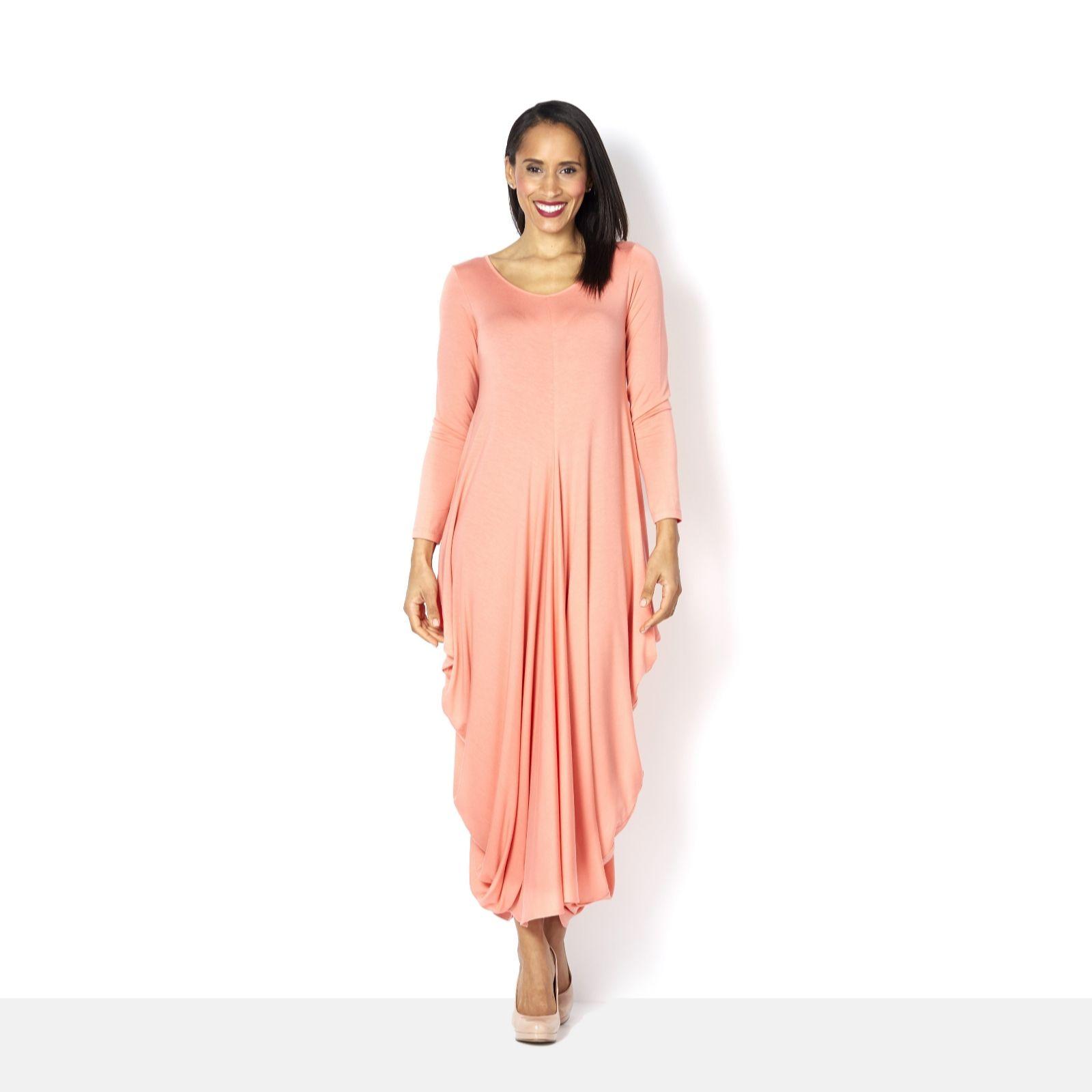 Yong Kim Modal Drape Side Dress - Page 1 - QVC UK a29d3bef2