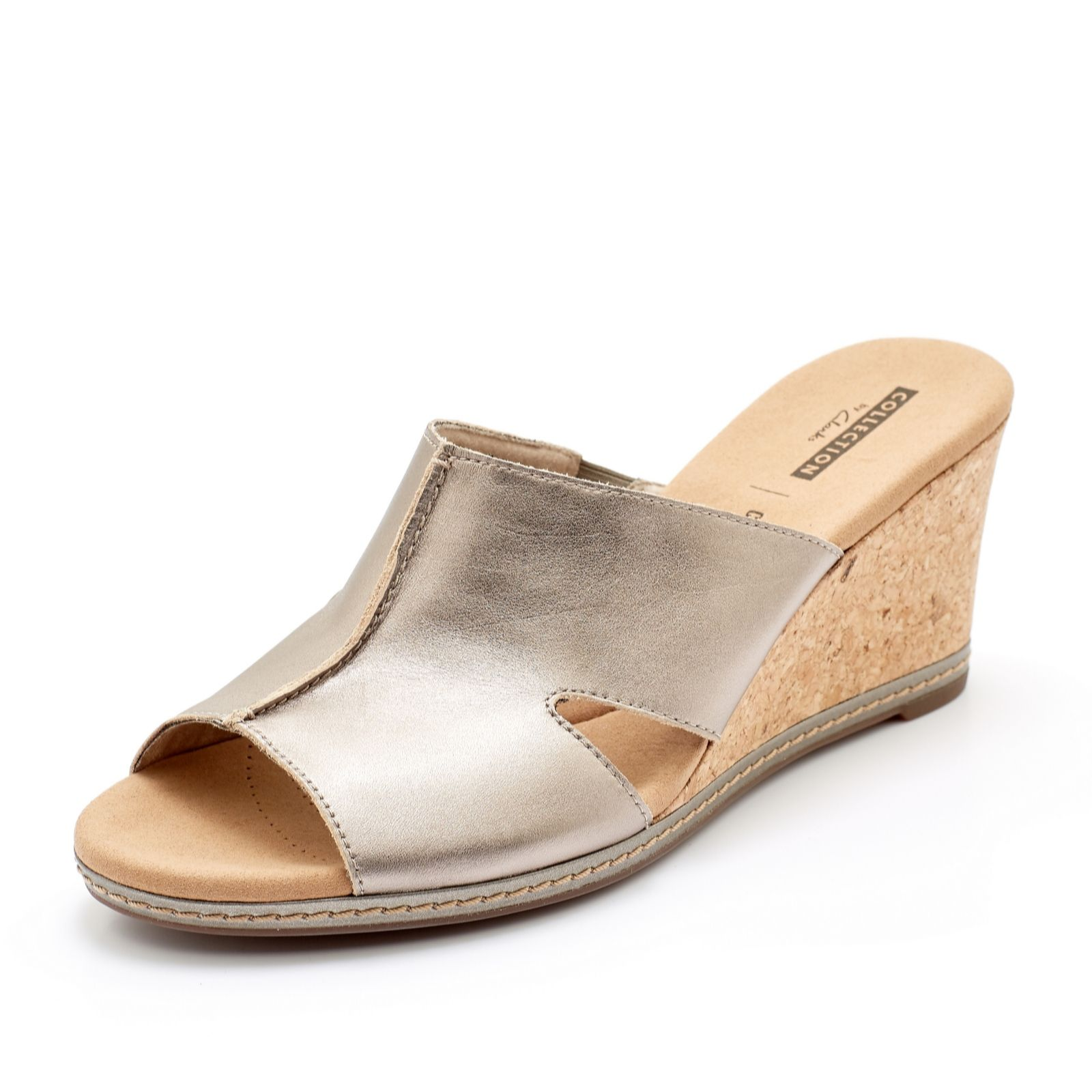 87afad651536 Clarks Lafely Mio Wedge Sandal Standard Fit - QVC UK