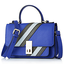 Amanda Lamb Leather Stripe Shoulder Bag