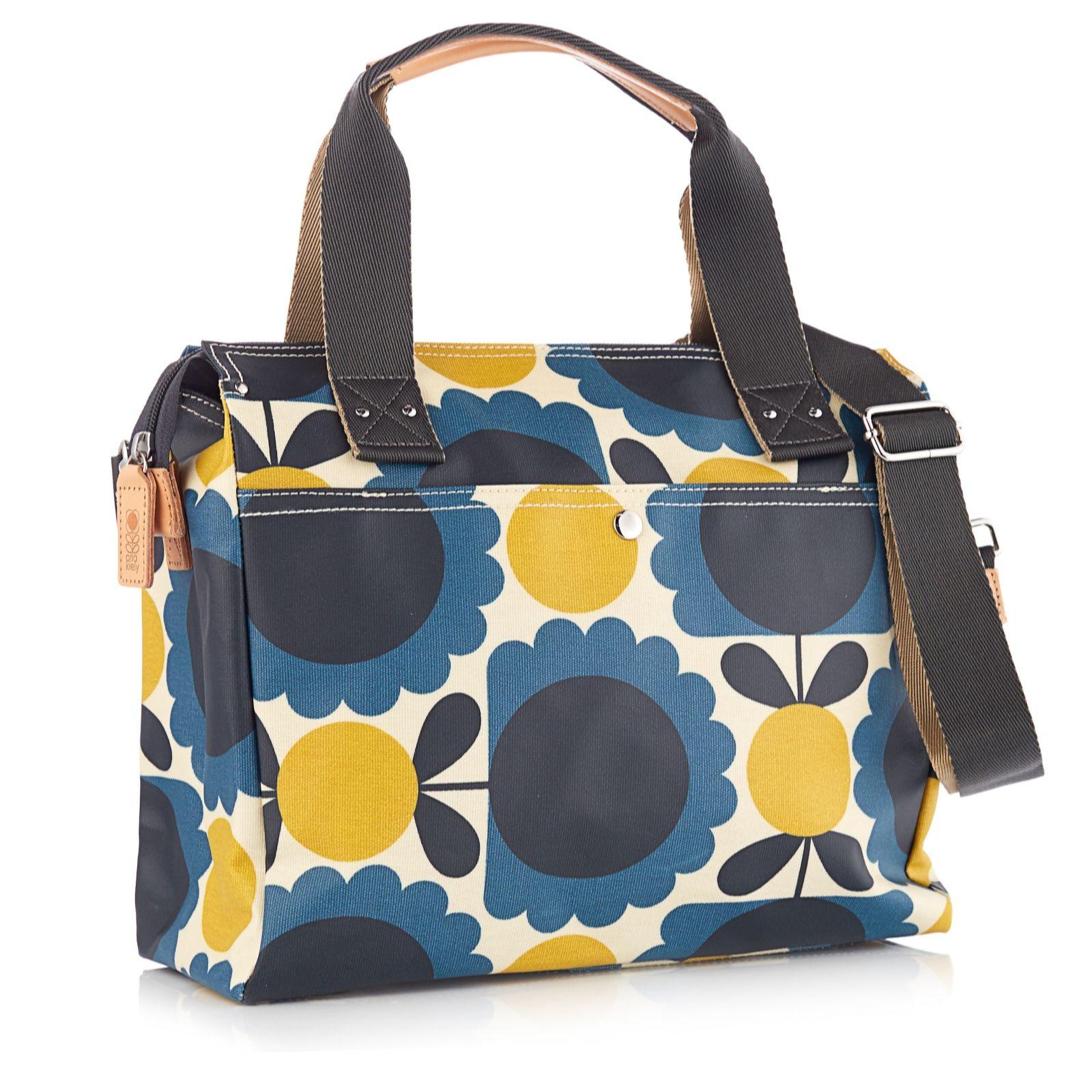 Orla Kiely Scallop Flower Spot Zip Messenger Bag Qvc Uk Clutch Black