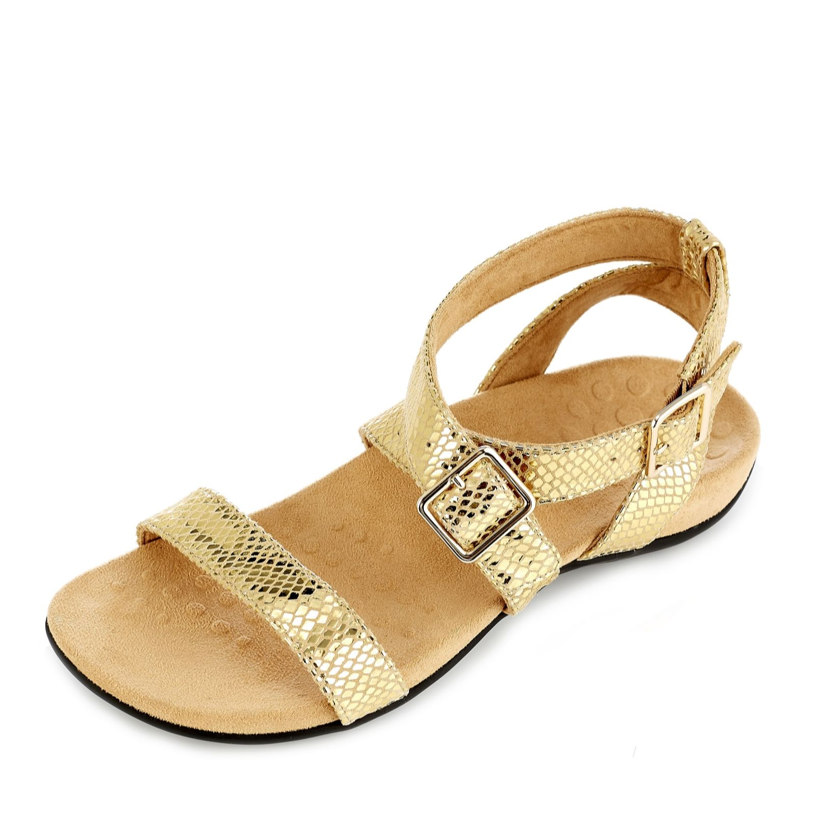 the best website for discount new arrive Vionic Orthotic Elnora Ankle Strap Sandals w/ FMT Technology ...