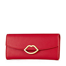 Lulu Guinness Trisha Grainy Leather Wallet