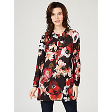 Olly Doo All Over Floral Printed Big Shirt